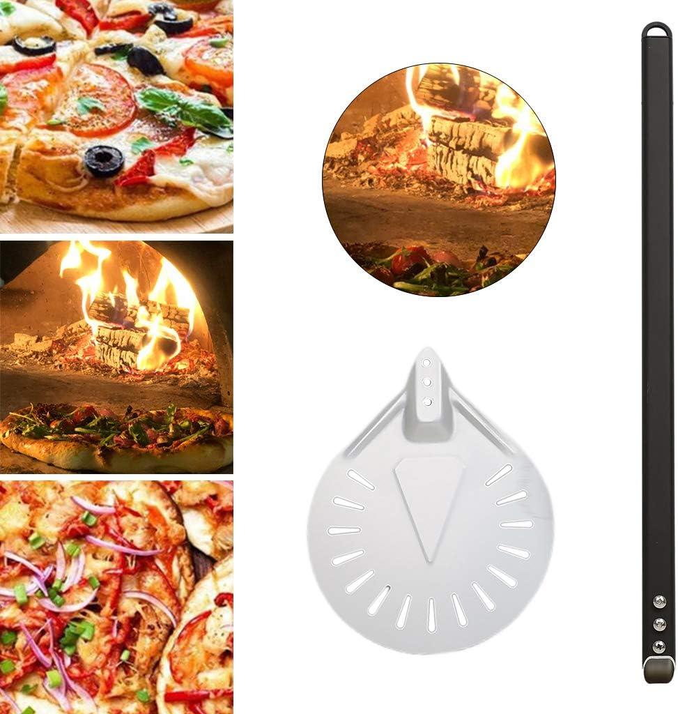 Baoblaze Aluminum Pizza Peel with Detachable Long Handle for Easy ...