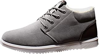 Men's New England Style Shoes Lace-Up Shoes Plus Velvet Warm Lightweight Breathable Insulated Cold Weather Boot