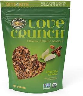 Love Crunch Organic Granola, Apple Chia Crumble, 11.5 Oz (Pack of 6), Non GMO, Fairtrade, Vegan, by Nature's Path