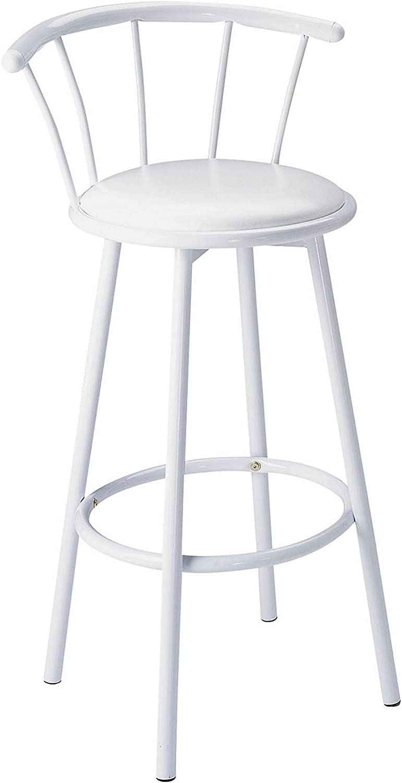 ACME 02046W Set of 2 Cucina Swivel Bar Chair, White Finish