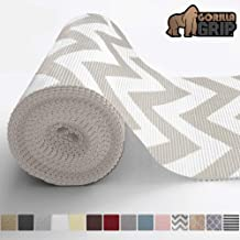 Gorilla Grip Original Drawer and Shelf Liner, Non Adhesive Roll, 20 Inch x 20 FT, Durable and Strong, Grip Liners for Drawers, Shelves, Cabinets, Storage, Kitchen and Desks, Chevron Gray White