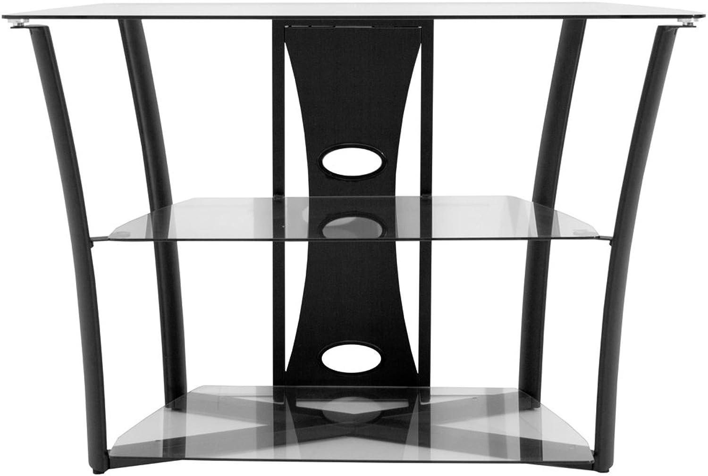 Savanah Ridge AZSLG38 38-Inch Westminster Wide Metal and Glass TV Base (Black)