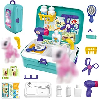 Pretend Play Toy, Pretend Play Housekeeping,Children'S Play House Toy Kitchen Shop Makeup Tool Set Play House Suitcase Edu...