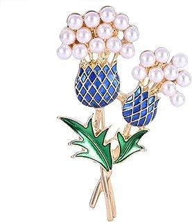 Elegant Pearls Corsage Women Brooch Thistle Tree Pineapple Tree Fashion