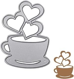 LIYUDL Heart Coffee Cup Cutting Dies Stencil DIY Scrapbooking Album Card Embossing Craft