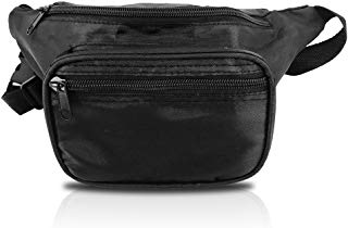 Cool Fanny Pack For Hiking, Travel, Amusement Parks, and Outdoors (Black)