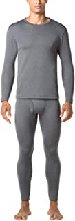 Men's Heavyweight Thermal Underwear Long John Set Fleece Lined Base Layer Top and Bottom M24