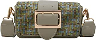 Crossbody bagWide shoulder strap Shoulder Bags fashion Small square bag Green
