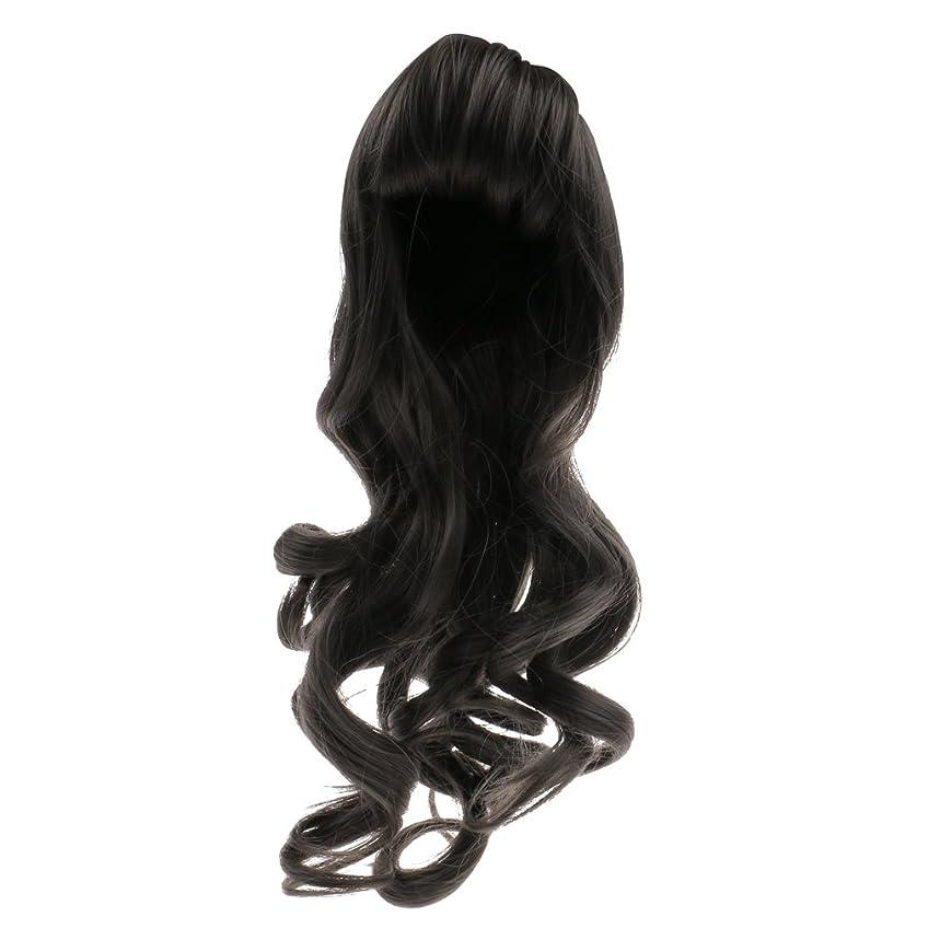 テーブル裏切り者調べるBlesiya 人形用 ドールウィッグ かつら 巻き毛 波状髪 セクシー 前髪 ブライス人形適用 全6色選べ  - #1