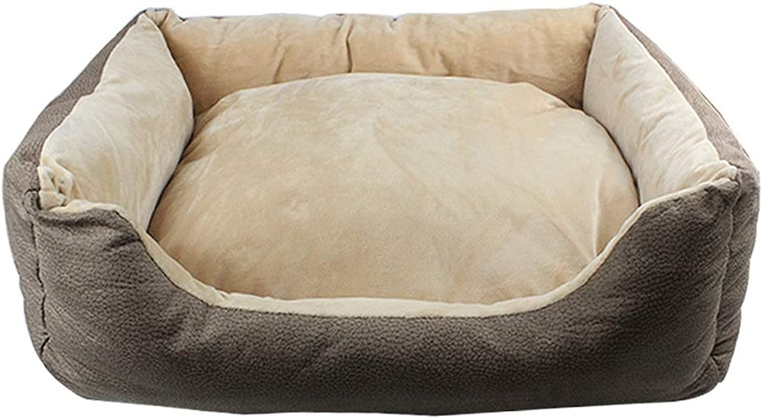 5GHjkj Four Seasons Universal Pet Nest Small And Medium Pets Soft And Comfortable Warm Plus Cotton Dirty Pet Cat Pet Kennel (color   BROWN, Size   M)