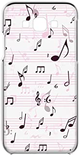 Galaxy A8 SCV32 用 スマホケース ハードケース 音符・ピンク 音楽 ポップ ペイント SAMSUNG サムスン ギャラクシー エーエイト au スマホカバー 携帯ケース 携帯カバー FFANY music_00r_h122@01