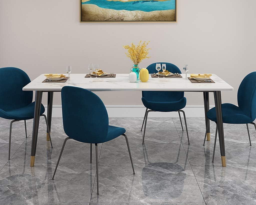 Y Dwayne Moderne Minimaliste Salle à Manger Table et chaises Combinaison Accueil Table et Chaise D (Color : Gray) Blue
