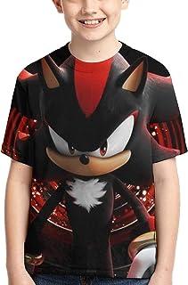 guoweiweiB Camisetas de Manga Corta para niño, Shadow The Hedgehog Sonic Boys Girls 3D Print Crew tee Youth Short Sleeve ...