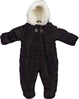 Baby Girls Cozy Puffer Fully Sherpa Fur Lined Snowsuit Pram with Fur Trim Hood (Infant/Newborn)