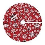 Mnsruu Falda de árbol de Navidad con copos de nieve de invierno para decoración de Navidad (120 cm)