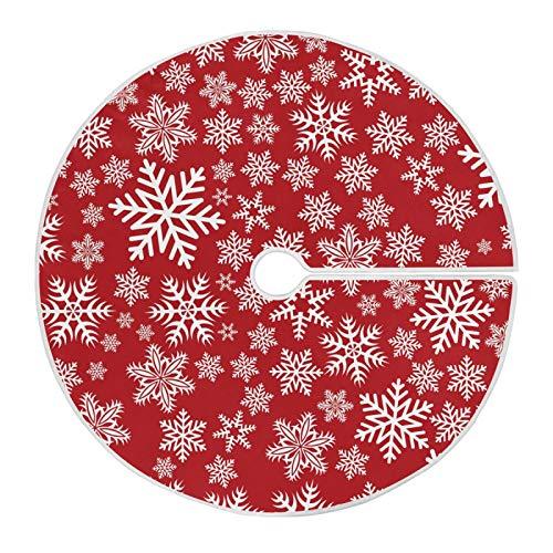 Mnsruu Weihnachten Schneeflocken Winter Weihnachtsbaum Rock Schnee Baum Röcke für Weihnachten Urlaub Dekorationen (120cm)