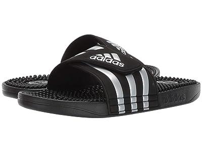 adidas adissage (Core Black/Silver Metallic/Core Black) Women
