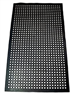 New Star 1 pc Heavy Duty Black 36x60 inch Restaurant / Bar Anti-Fatigue Rubber Floor Mat
