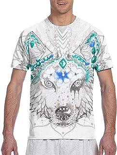 BaiKal Mandala_2499ファッションメンズラウンドネックデザイン半袖スリムフィットカジュアルTシャツ