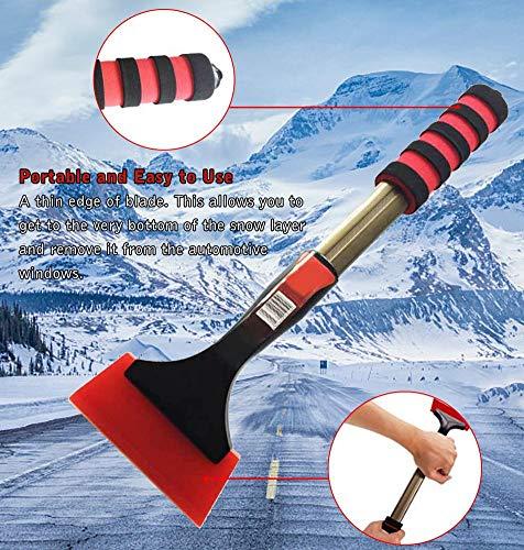 Eisschaufel, Auto-Schneeschaber, Windschutzscheibenbürste, Schaber zum Entfernen von Frost, für alle Winterbedingungen