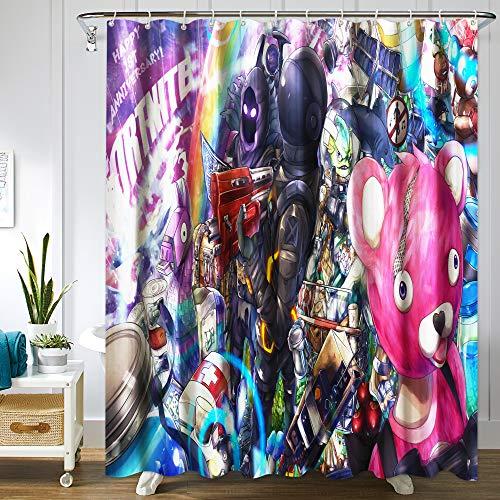 LUA Game Shower Curtain Game Merchandise Fabric Shower Curtain for Bathroom Showers Bathtubs 72x72in