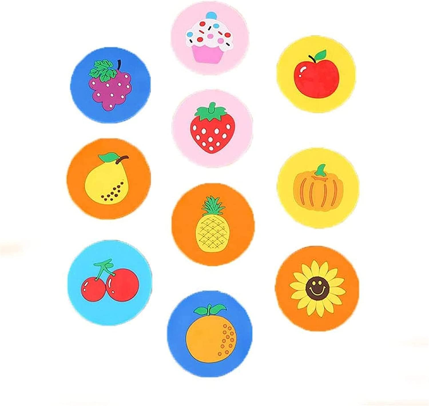 Fruit Silicone Over item handling ☆ Coaster Cute Thickened At the price of surprise Placemat Non-Slip Se Tea