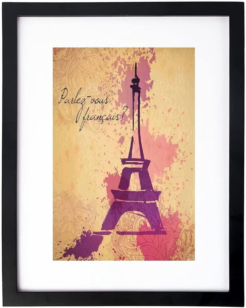 VinMea Wall Art Print French Historic Silhouet Wordprint Limited Special OFFicial Price Cursive