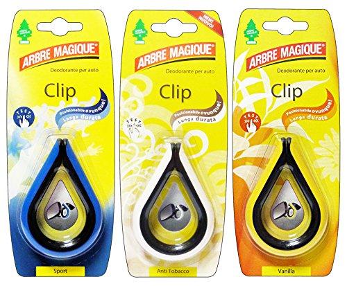 Arbre Magique Set 24 Désodorisant Clip Mixte – Articles pour Voiture
