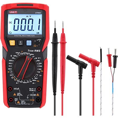 Uni T Ut890d True Rms 6000 Counts Ac Dc Live Function Ncv Digital Multimeter With Lcd Backlight Handheld Auto