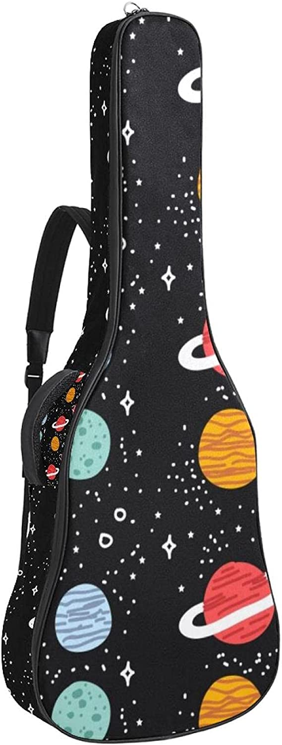 Acoustic Guitar Bag Planets Stars Adjustable Max 62% OFF St Pattern Colorado Springs Mall Shoulder