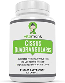 VitaMonk™ Cissus Quadrangularis 5% Ketosterone Extract - 120 Capsules - Targeted 5.35% Extract of 3-Ketosterones Reduce Jo...