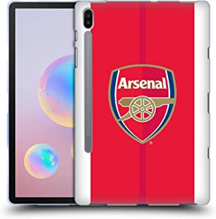 Official Arsenal FC Home 2016/17 Crest Kit Soft Gel Case Compatible for Samsung Galaxy Tab S6 (2019)