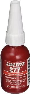 Loctite 277 442-21434 10ml High Strength Threadlocker, Red Color