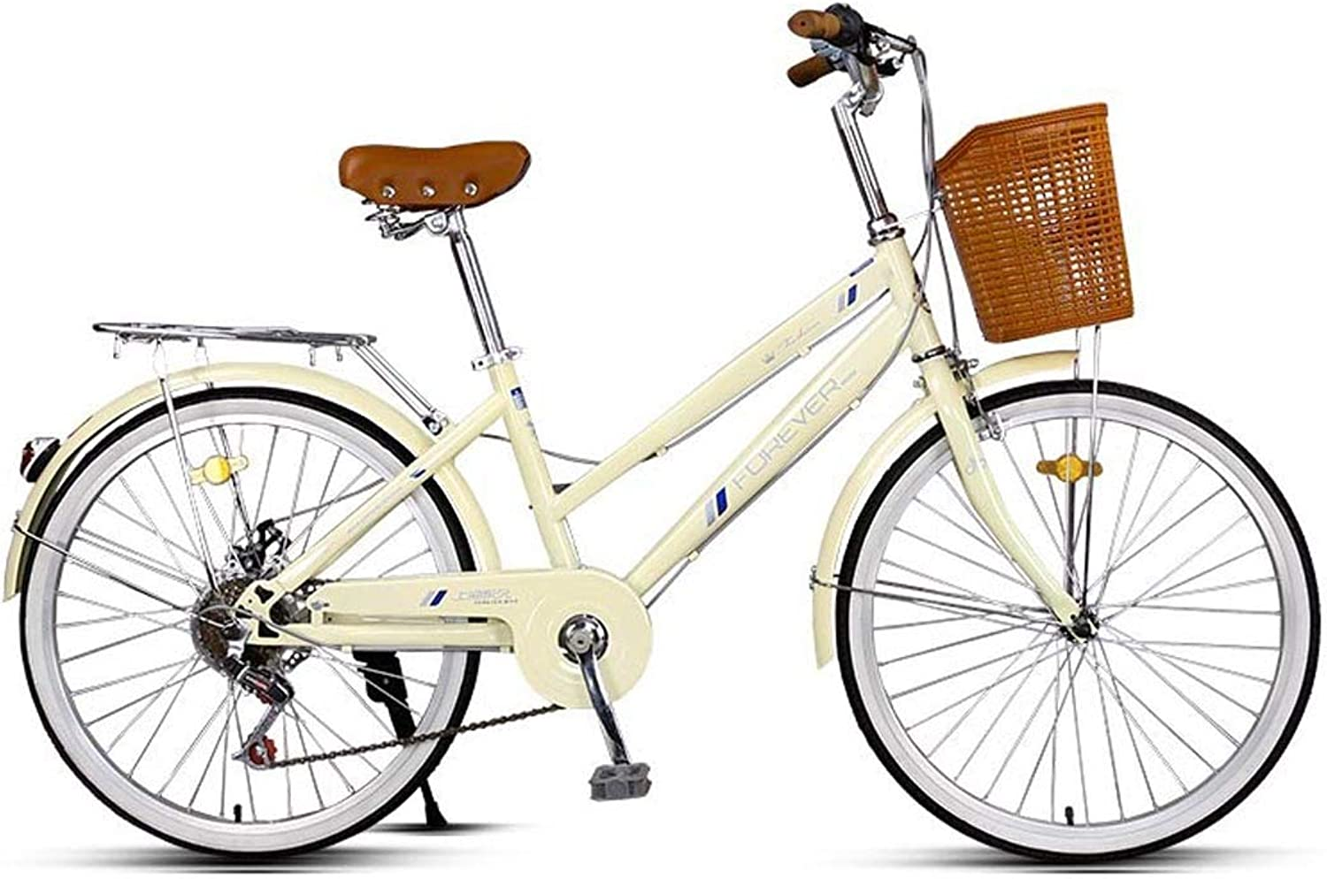 Bicycle, Women's 24 Inch 6Speed Bicycle, Student Adult Leisure Bicycle, City Commuter