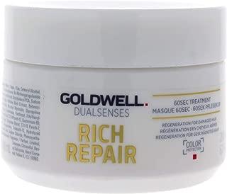 Goldwell Dualsenses Rich Repair Restoring 60sec Treatment Regenerate Damaged Hair, Add Shine - 6.8oz