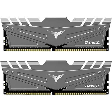 TEAMGROUP T-Force Dark Z 16GB Kit (2x8GB) DDR4 Dram 3200MHz (PC4-25600) CL16 288-Pin Desktop Memory Module Ram (Gray) - TDZGD416G3200HC16CDC01