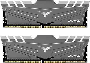 TEAMGROUP T-Force Dark Z DDR4 16GB Kit (2 x 8GB) 3200MHz (PC4-25600) CL 16 288-Pin SDRAM Desktop Gaming Memory Module Ram - Gray - TDZGD416G3200HC16CDC01