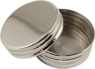 Pillendosen Metall Rund Silber poliert drei Fächer Reise Silberdose Damen