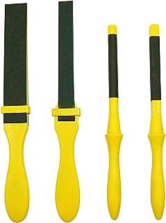مجموعة أدوات تلميع من ورق الصنفرة مع عصا بلاستيكية من ورق الرمل