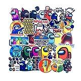 ADosdnn 10 / 50PCS de Dibujos Animados Entre Nosotros Juego Etiquetas Estética Estética de monopatín Frigorífico Guitarra portátil de Viaje de la Motocicleta Pegatinas de Graffiti (Color : 50PCS)