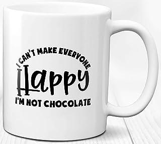 Taza de café con caramelo de chocolate Taza de cerámica con mensaje de actitud divertida 330 ml Regalo único