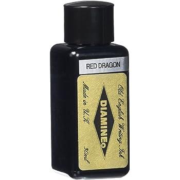 Diamine 30 ml Bottle Fountain Pen Ink, Red Dragon