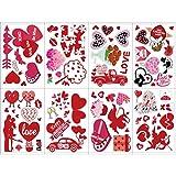 spier 8 hojas/set de pegatinas de ventana de Navidad, San Valentín, decoración de corazón, decoración de fiesta, suministros