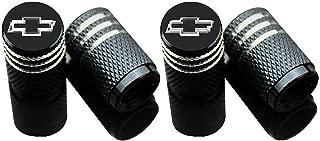 EVPRO Valve Stem Caps Tire Decorative Accessories Black 4 Pack Fit for Chevy