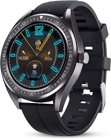 GOKOO Reloj Inteligente Hombre Smartwatch IP68 Impermeable Rastreador Actividad Reloj Deportivo Pantalla Completa Táctil Fitness Compatible con Android iOS