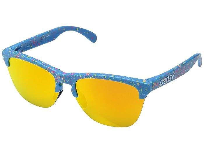 Oakley Frogskins Lite (Splatter Sky Blue/Fire Iridium) Sport Sunglasses