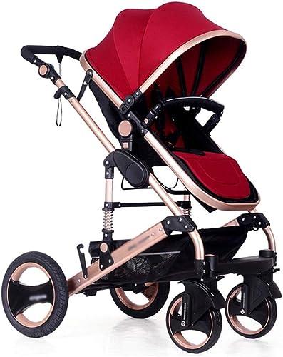 ahorra hasta un 50% Sillita infantil High Landscape Cochecito de bebé bebé bebé lavable con canasta de almacenamiento y projoección contra el doblez de cuatro rondas para 0-3 años (rojo)  Ven a elegir tu propio estilo deportivo.
