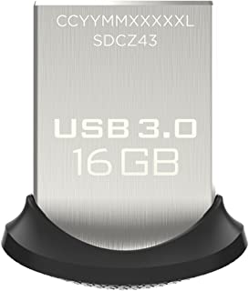Sandisk SDCZ43-016G-GAM46 Ultra Fit USB 3.0 Flash Drive - 16GB- Silver Black (Pack of1)