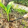 YARTTING Gardening Tool Set-28 Piece, Newest Version, Heavy Duty Garden Tools Includes Ergonomic Wooden Hand Weeder Culti-Hoe, Trowel, Garden Tote and More-Gardening Gifts for Men Women #5