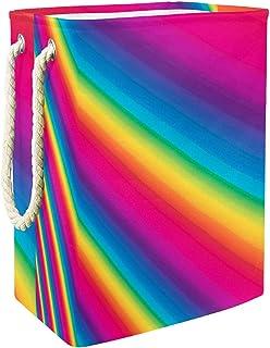 Vockgeng Barres Arc-en-Ciel Stockage de Jouets pour bébé Panier de Rangement imperméable Pliable de Jouets de Jouets de Pa...